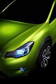 subaru light green subaru xv concept is a high riding impreza crossover