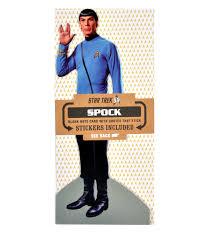 mr spock star trek greeting card with sticker sheet pink cat shop