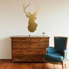 metallic gold deer head trophy vinyl wall decal wall dressed up metallic gold deer head trophy vinyl wall decal wall dressed up 1