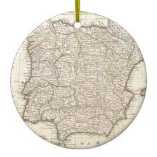 vintage spain map ornaments keepsake ornaments zazzle