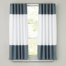 Rugby Stripe Curtains by Color Edge Red 63