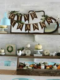 fabric wood give thanks bunting lolly