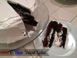 lily bit different red u0026 blue velvet cake