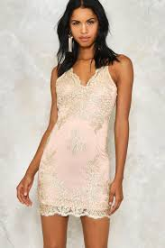 hot to trot metallic lace dress shop clothes at gal