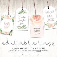 bridal shower favor tags printable baby shower labels editable gift tags bridal