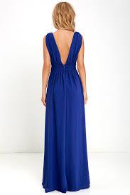 heavenly hues royal blue maxi dress online