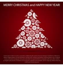 new year post cards christmas and new year post card vector image
