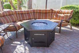 backyard patio ideas with fire pit outdoor patio ideas propane fire pits table with round table