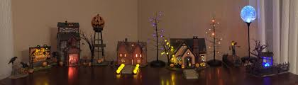 Light Up Halloween Tree by One More From Me My Small Halloween Village Is All Set Up