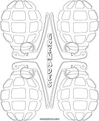 grenade coloring pages coloring pages to download and print