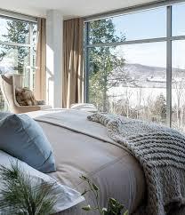 chambre habitat chambre douce et nature entièrement vitrée rideaux http m