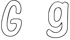 lowercase letter g coloring page pin on letter g pinterest
