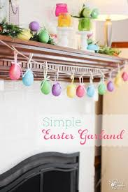 homemade easter decorations for the home easter crafts make a egg garland in 5 minutes