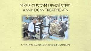 Upholstery Repair Wichita Ks Mike U0027s Custom Upholstery U0026 Window Treatments Youtube