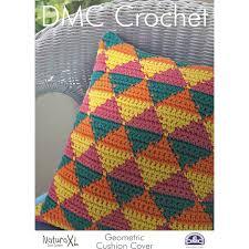 Patterns For Knitted Cushion Covers Dmc Natura Xl Geometric Cushion Cover Crochet Pattern Hobbycraft