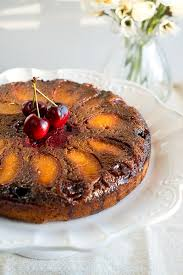 peach cherry upside down cake delicious meets healthy