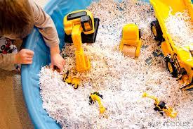construction site sensory bin busy toddler