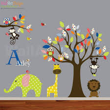 Nursery Wall Mural Decals Nursery Room Ideas With Colorful Tree Wall Mural Decals