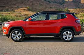 jeep compass limited red jeep compass petrol at official review team bhp