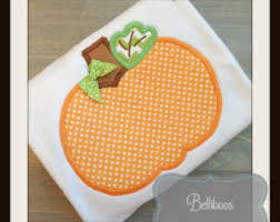 Thanksgiving Appliques Pumpkin Applique Etsy