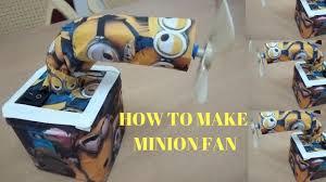 diy minion craft table fan