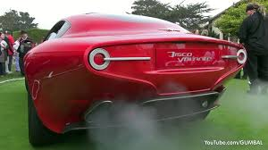 alfa romeo disco volante touring superleggera start up sound