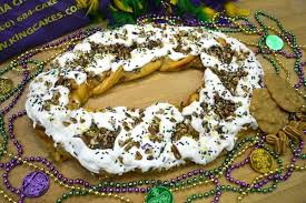 new orleans king cake delivery medium king cake half cheese half pecan praline new