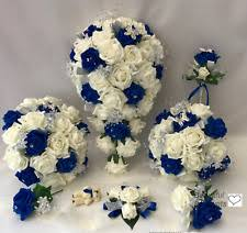 blue wedding bouquets blue wedding bouquets ebay