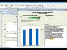 Attribute Gage R R Excel Template Gage R R Attribute Data In Minitab Tutorial
