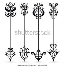 vintage decorative arrows collection stock vector
