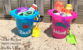 personalized buckets the sea party favor sand buckets from wine to whine