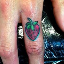 unique six strawberry tattoo designs by rosanne