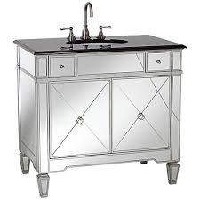 mirrored and black granite bathroom sink vanity 2m102 lamps plus