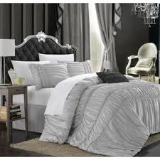 Black And Silver Bed Set Size Queen Silver Comforter Sets For Less Overstock Com