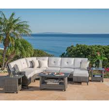 Curved Sectional Patio Furniture - seating sets costco