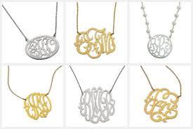 personalized monogram necklace personalized monogram necklace small s jewelry