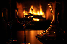Beautiful Wine Glasses Drinking A Nice Vintage Wine Listening To Lovely Music And Lying