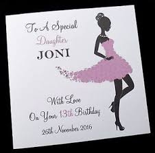 personalised birthday card sister daughter friend niece 13th 16th
