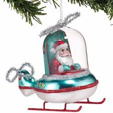 santa flying helicopter ornament by department 56 4032908
