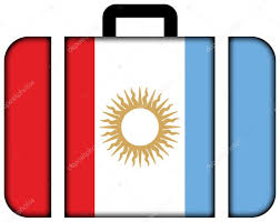 Argentina Flag Photo Flag Of Cordoba Province Argentina Suitcase Icon U2014 Stock Photo