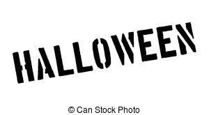 vector clip art of halloween party graphic with scared happy