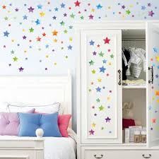 b vibola creative star wall sticker diy home decor for kids