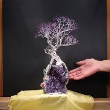 tree of life home decor uruguay amethyst quartz crystal metal tree of life artwork wedding