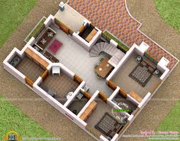 3d floor design 3d floor plan of 1496 sq ft home kerala home design and floor plans