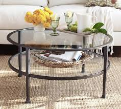 Circle Glass Coffee Table Era Glass Coffee Table Crate And Barrel Within Two Tiered