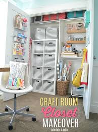 craft room closet makeover organizing