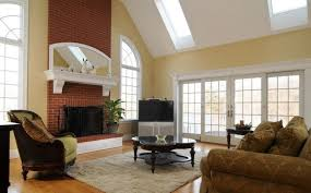 Living Room Red Brick Fireplace