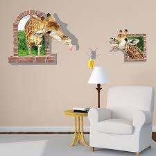 Giraffe Wall Decals For Nursery 3d Giraffe Wall Decals For Nursery Removable Animal Wall