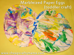 marbleized paper easter eggs a fun and pretty project kid