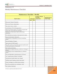 generator daily checklist